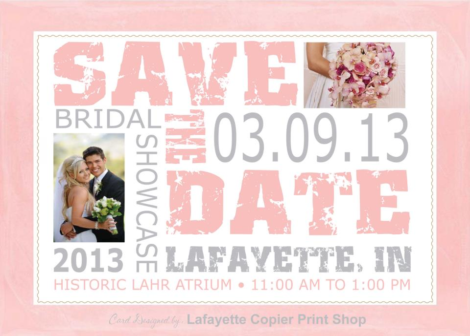 Save The Date 2013 Bridal Showcase