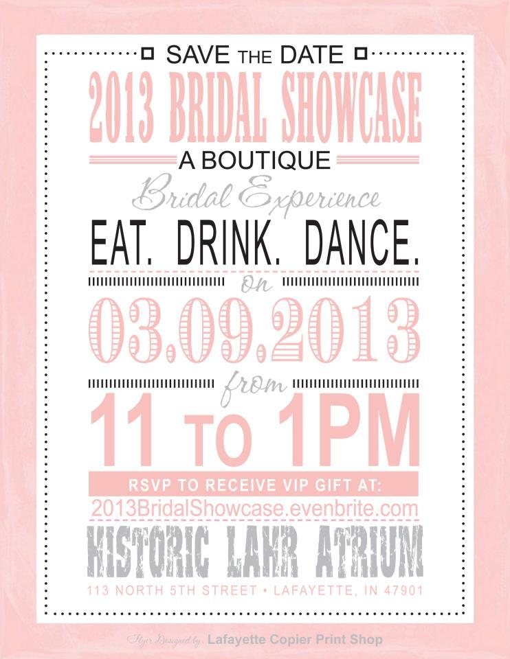 2013 Bridal Showcase Invite