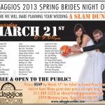 Adaggios Spring Bridal Show 3x5 Vendor List.indd